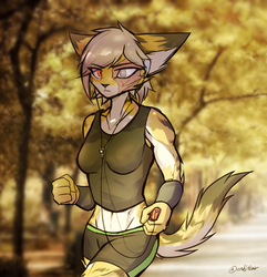 Autumn Jog by oLEEDUEOLo