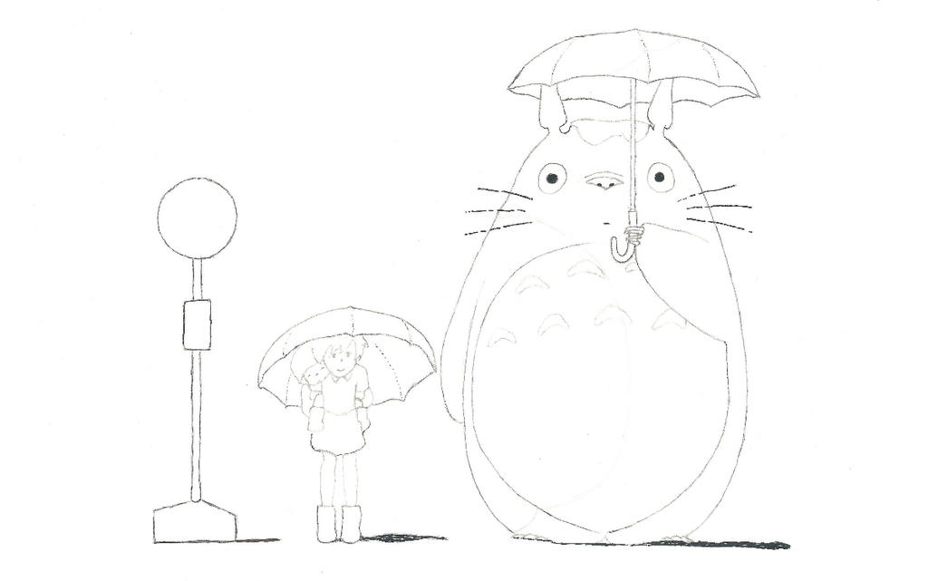 Totoro sketch by Seigner