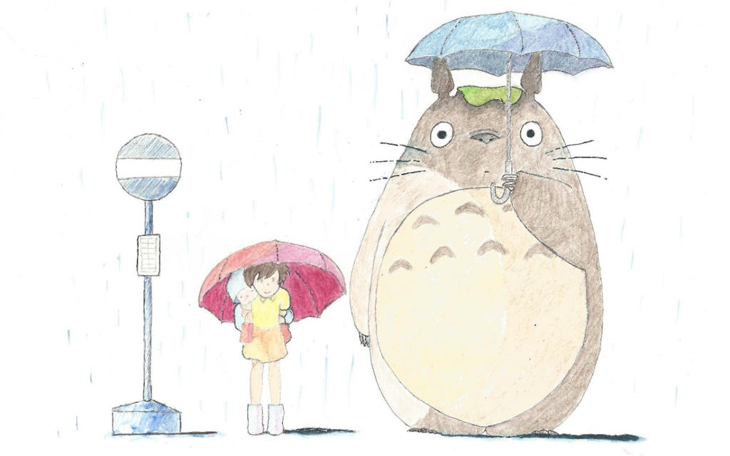 Totoro in watercolor by Seigner