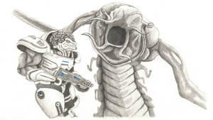 Mass Effect Battle by Seigner