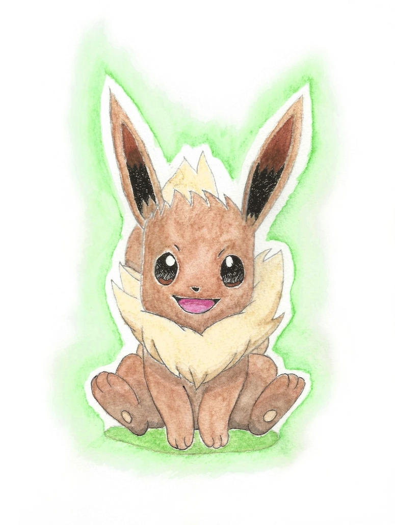 Eevee Watercolor by Seigner