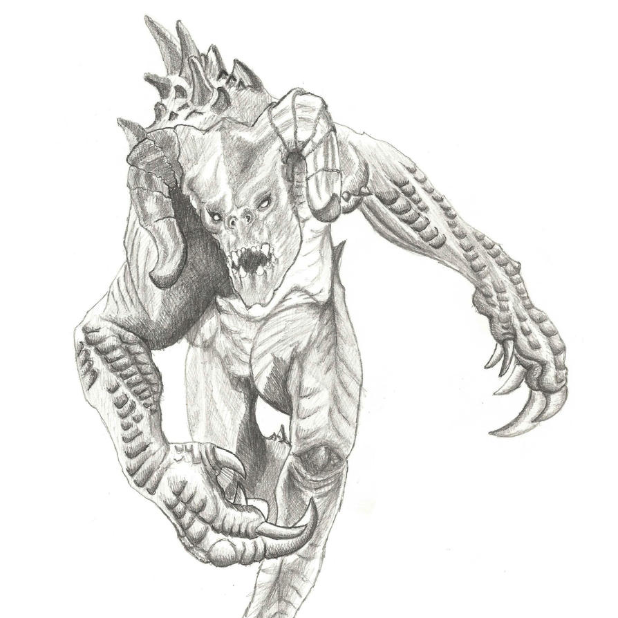 Deathclaw sketch by Seigner