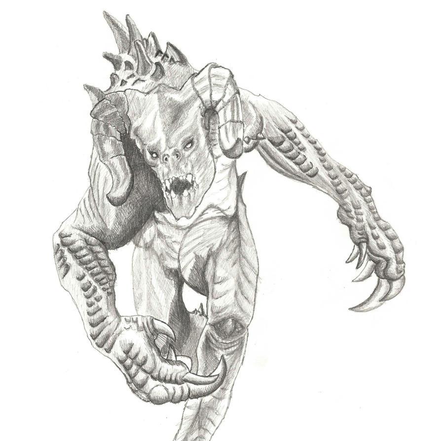 Deathclaw sketch by Seigner