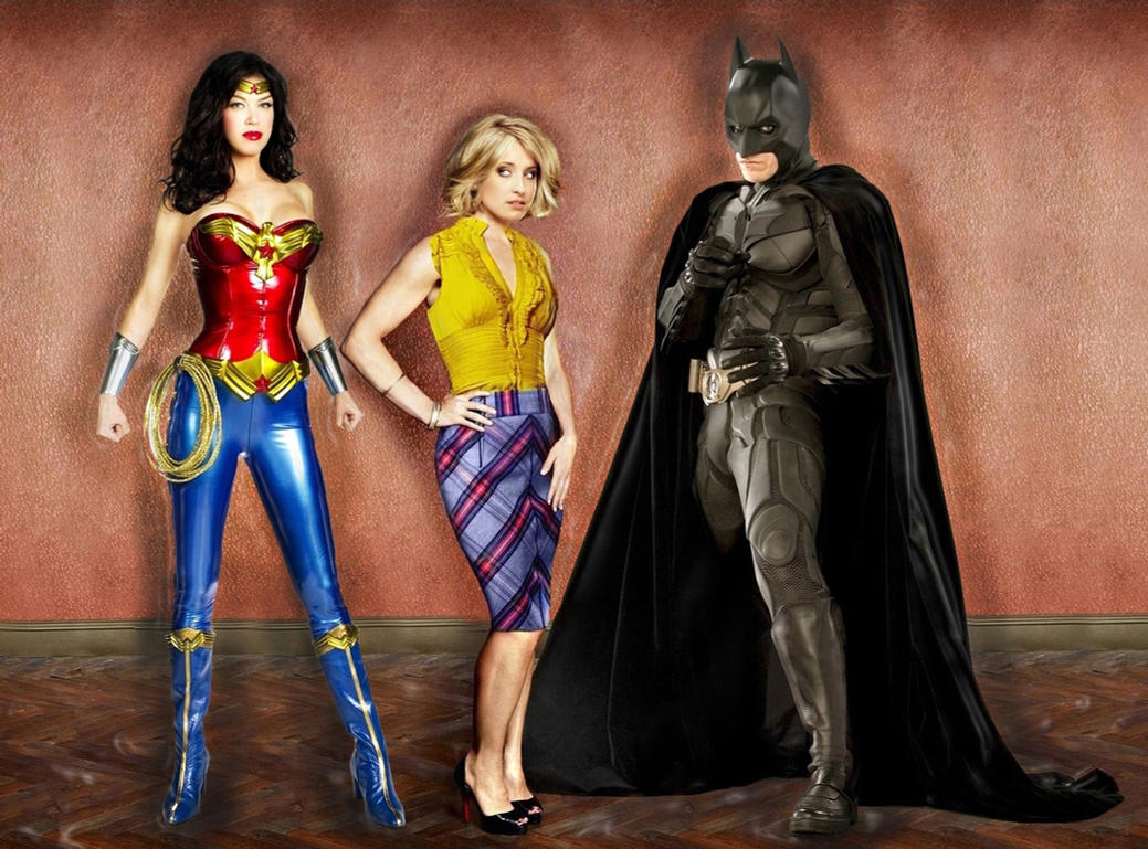 Chloe, Batman, Wonder Woman by Solimm