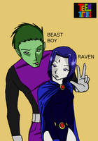 Beast Boy x Raven by SaAsMiAoNa