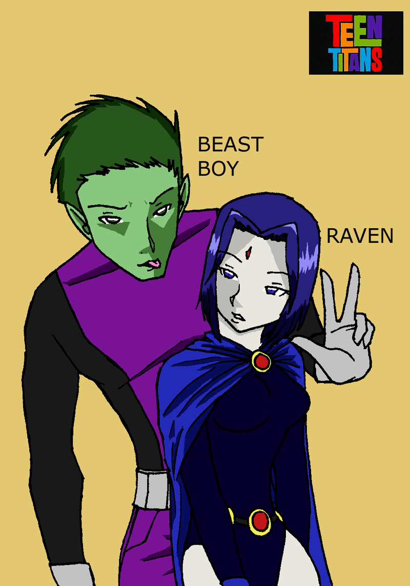 Raven And Beast Boy Kids Beast Boy x Raven by