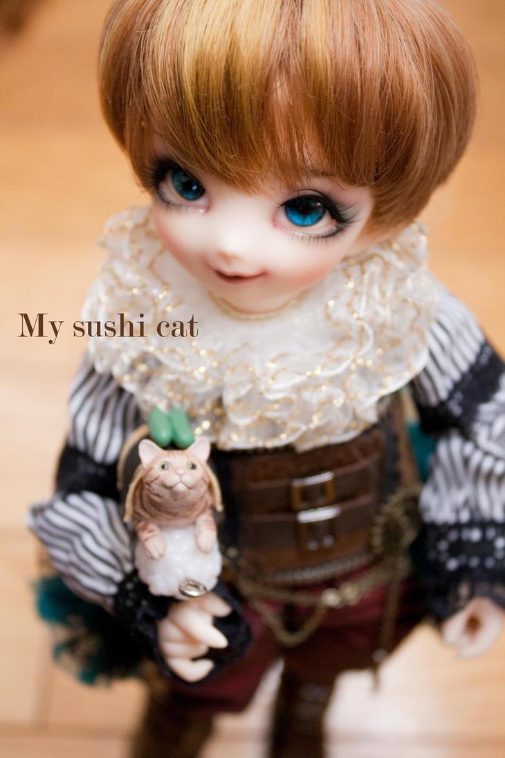 My sushi cat by yotsuba-amai