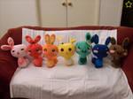 Rainbow Sweet Bunny Plushies