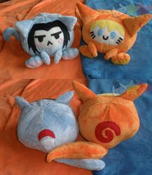 Maru Sasuke Naruto Plushies by LiLMoon