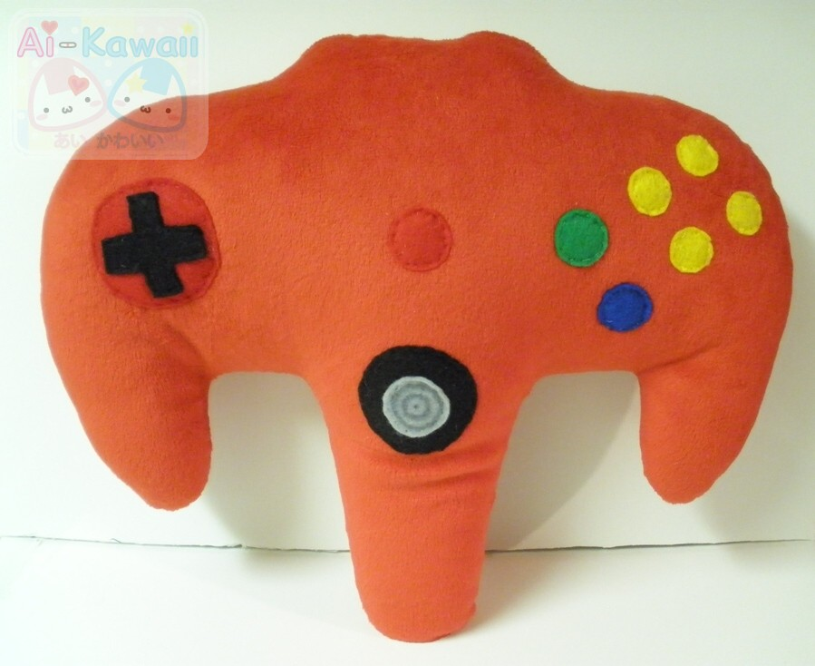 Nintendo 64 Game Controller Pillow by LiLMoon