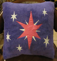 Twilght Sparkle Cutiemark Pillow by Scatterwing