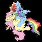 Fluttershy x Rainbow Dash by etozhexleb