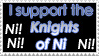 Knights of Ni Stamp by Tigerruby