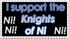 Knights of Ni Stamp by Tigerruby