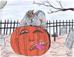 Ulysses Feral vs Giant Pumpkin by ulyferal