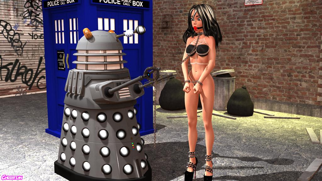 Roberta and Dalek by sissyroberta