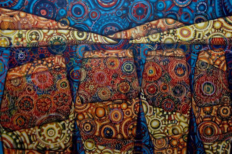 Acrylic on Canvas 4 by kschaman