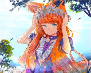 Fox girl by Kaisum-chan