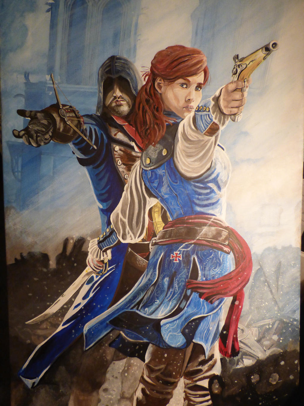 Assassins Creed Unity on canvas by The-Welsh-Wolf on DeviantArt