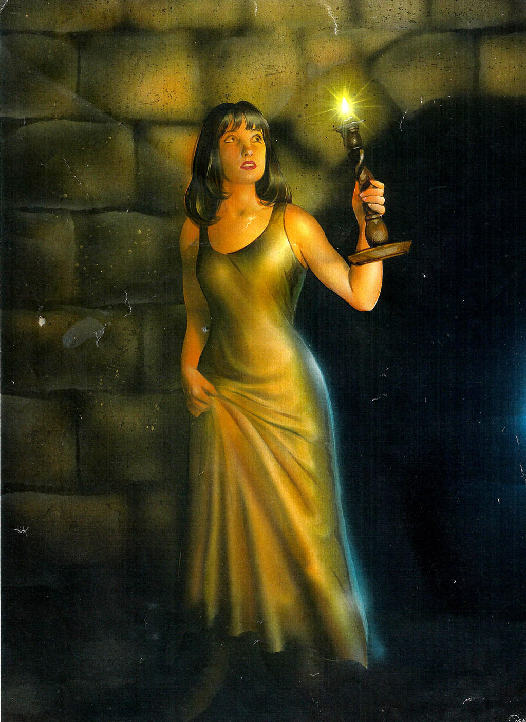 Girl With Candle by TheOldGoat1955 on DeviantArt for Girl With Candle Painting  117dqh