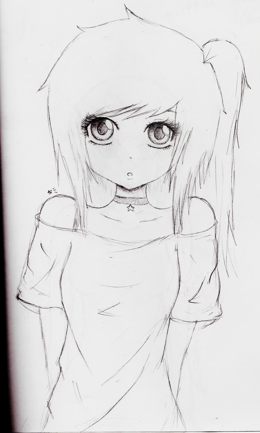 Kawaii girl by escapethestars on deviantart for How to draw a cute girl easy
