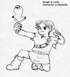 Link and Fairy Slingshot by lania