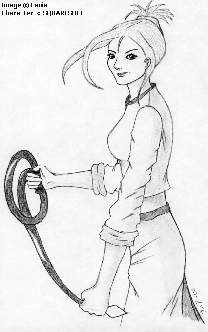 Gentle Smile, Deadly Whip by lania