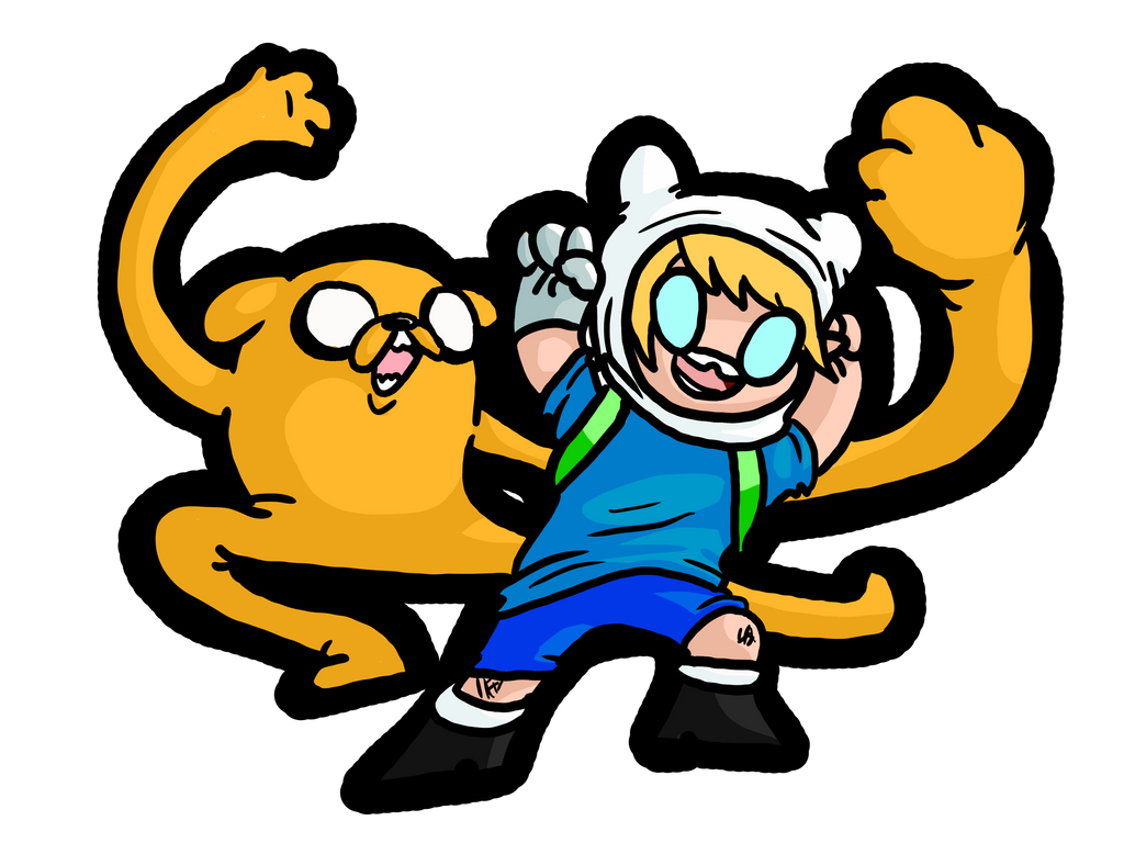 Finn and Jake Sticker style by GhosTyce