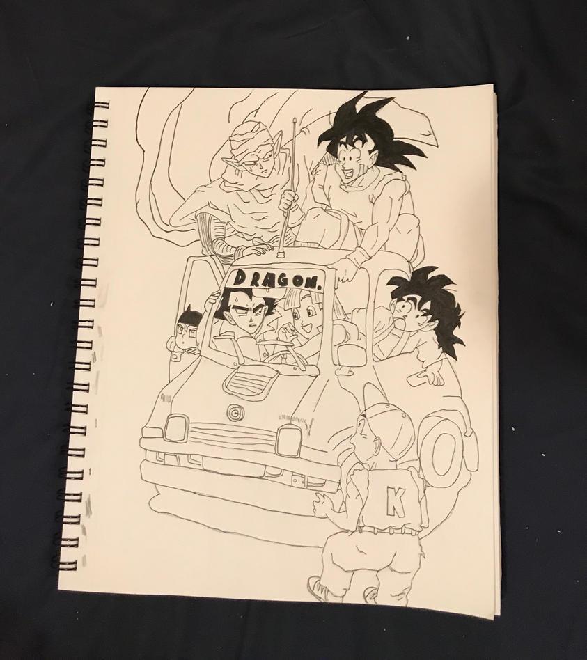 Dragon ball inked by J00KIN