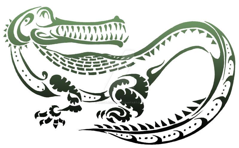 Stylized Animals Challenge - Crocodile by Saki-BlackWing