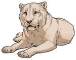 Albino Pygmy Cave Lion by TokoTime