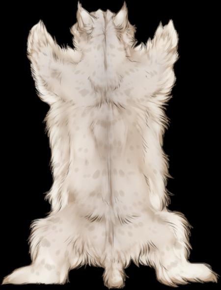 Albino Lynx Pelt By TokoTime