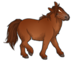 Chestnut Miniature Horse by TokoTime