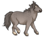 Dapple Grey Miniature Horse by TokoTime