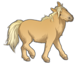 Palomino Miniature Horse by TokoTime