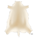 Blonde Caribou Pelt by TokoTime