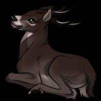 Melanistic Deer by TokoTime