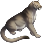 Silver Mountain Lion Companion by TokoTime