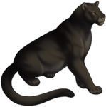 Melanistic Mountain Lion Companion by TokoTime