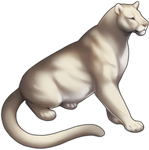 Albino Mountain Lion Companion by TokoTime