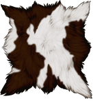 Brown Pied Goat Pelt by TokoTime