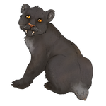 Smilodon Cub Companion - Black by TokoTime