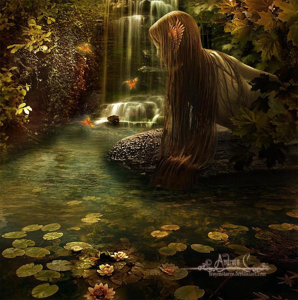 The autumn lagoon by FrozenStarRo