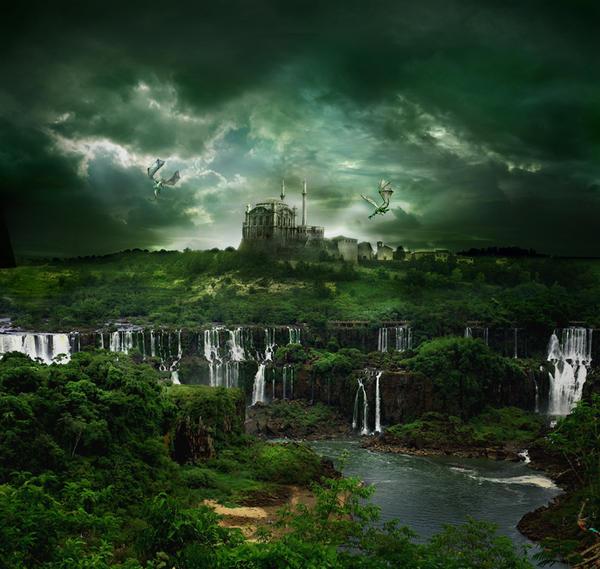 Waterfall City by FrozenStarRo