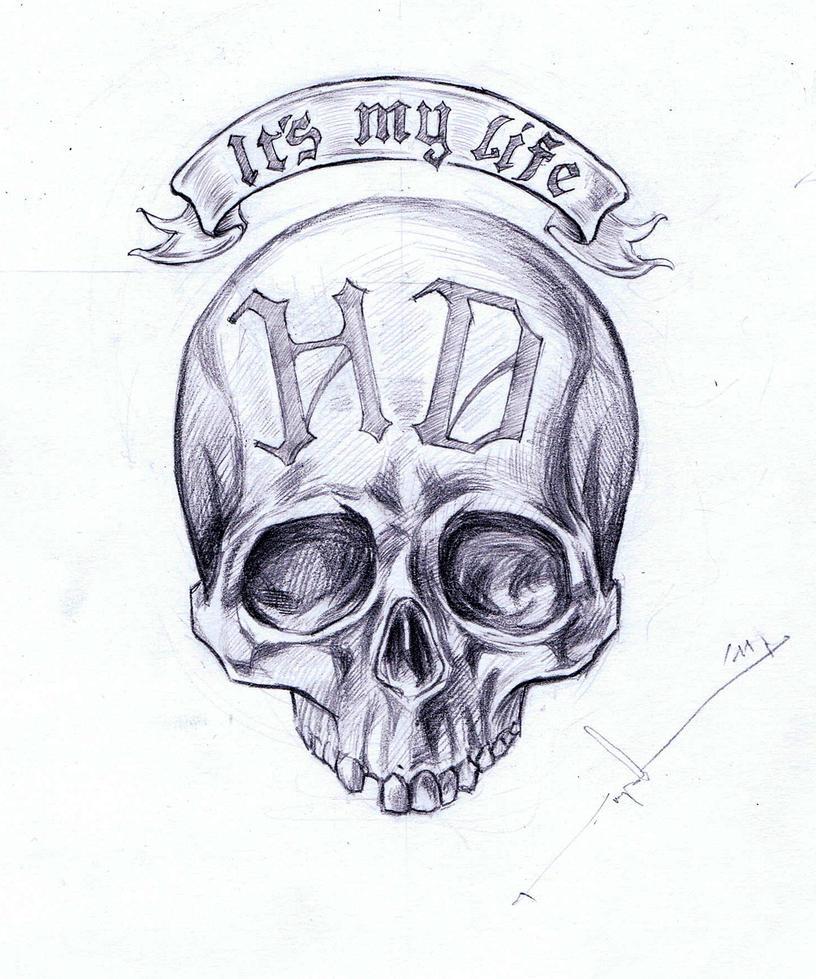Skull tattoo by Red-Rus on DeviantArt