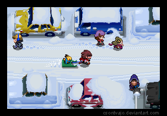 PKMN Winter Street by Csontvajo