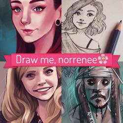 Draw me, norrenee by nor-renee