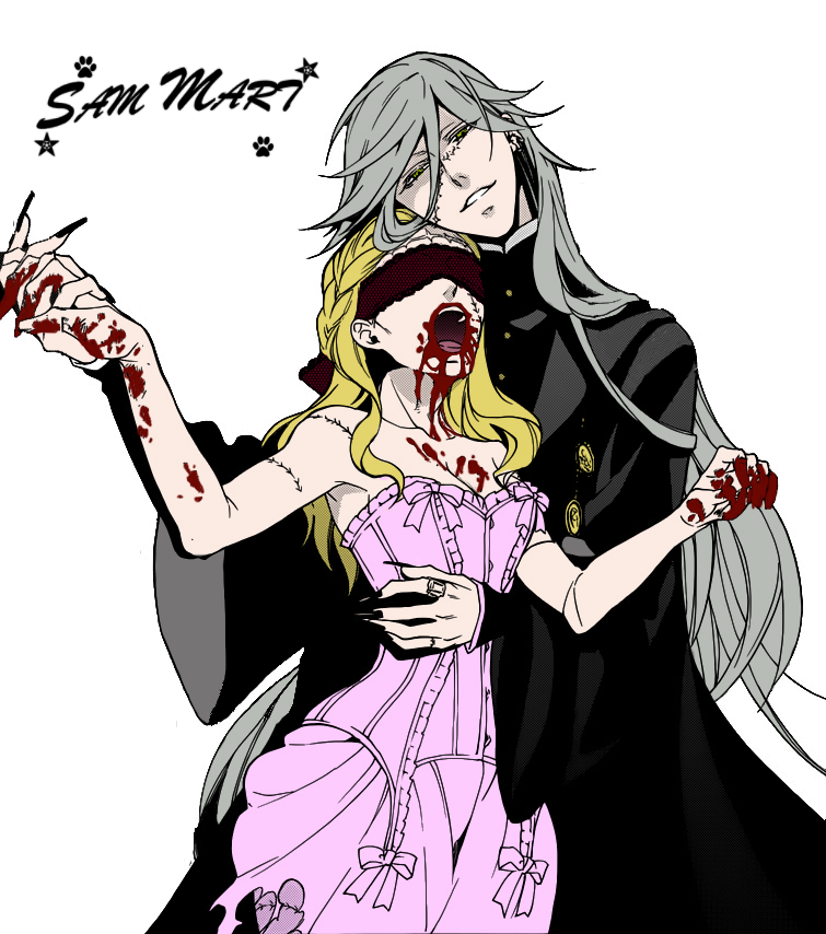 Anime Zombie Characters : Undertaker and zombie girl render by dulsammart on deviantart