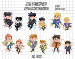 [PRE-ORDERS until April 8] MP100 HOLO KEYCHAINS