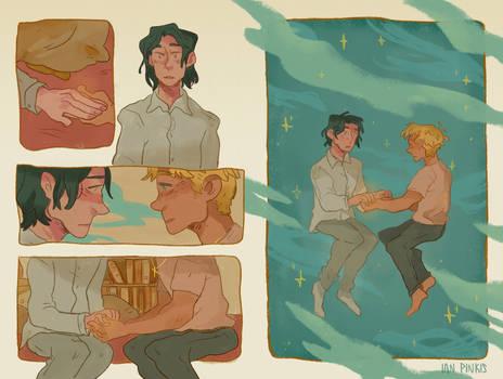 Carry On spread [Golden Days zine]